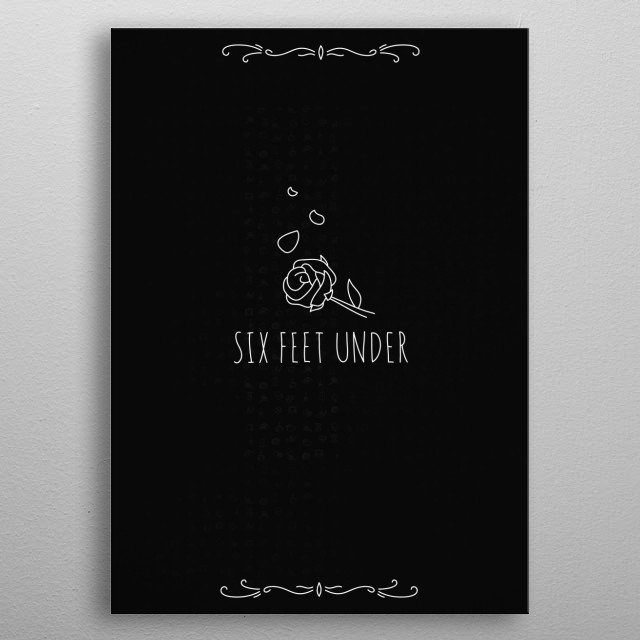 """Billie Eilish's """"Six Feet Under"""" soundtrack illustrated to help understand the meaning behind the song—a lost love, losing of one's self too metal poster"""