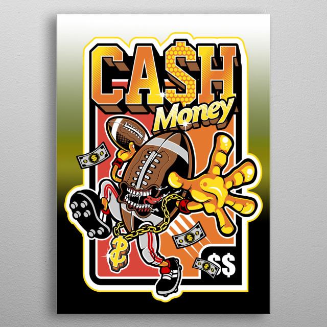 Cash Money Graffiti Graphic   metal poster