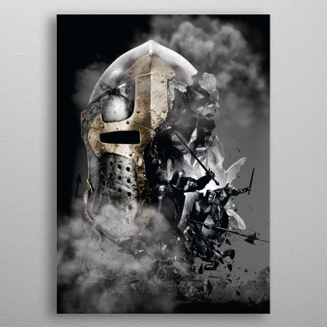 Gamer kit Black Knight right ! metal poster