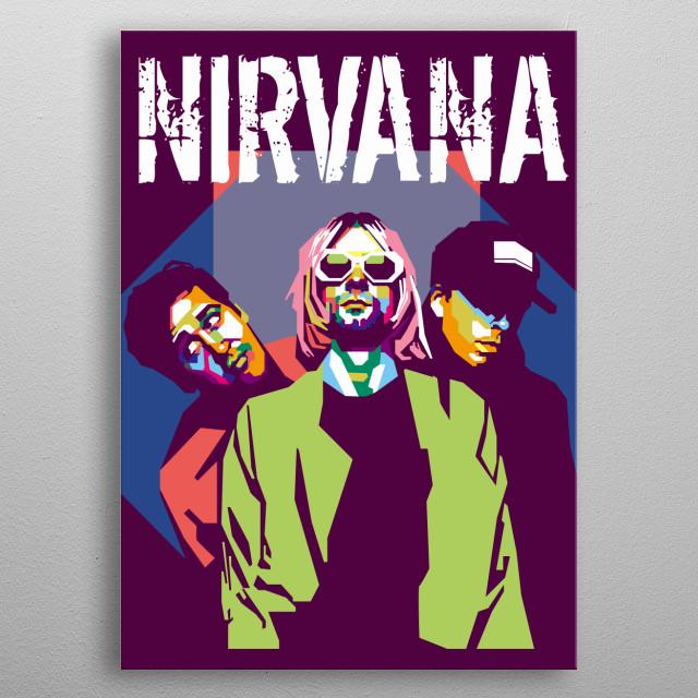 Nirvana in WPAP Art metal poster