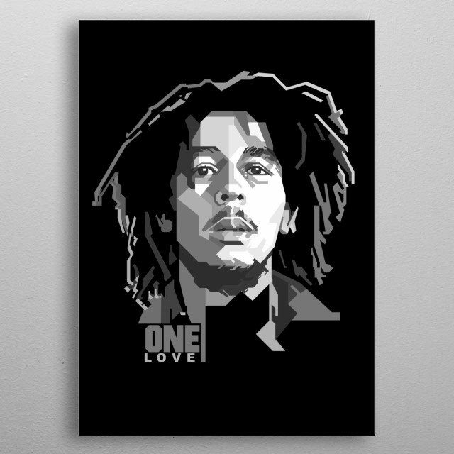 Robert Nesta Marley, OM was a Jamaican singer-songwriter who became an international musical and cultural icon, blending mostly reggae, ska metal poster