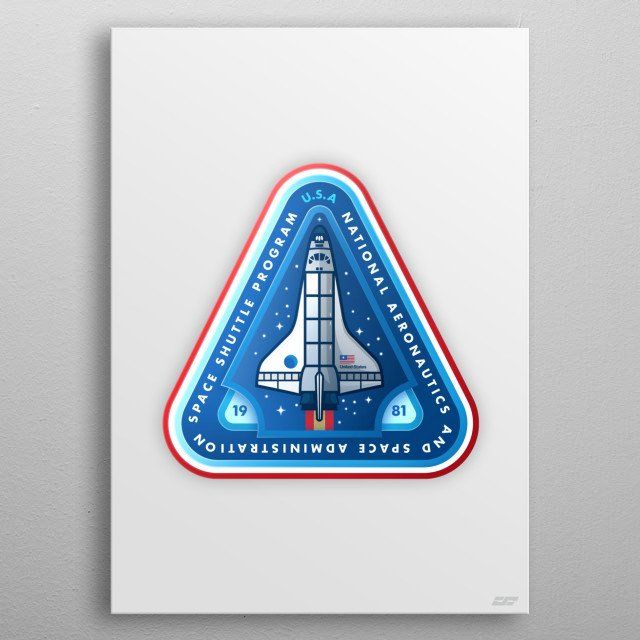 The NASA Space Shuttle Program - something that inspired us and continues to be one of the coolest things to ever happen in space technology metal poster