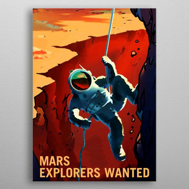 Fantasy Mars recruiting poster metal poster