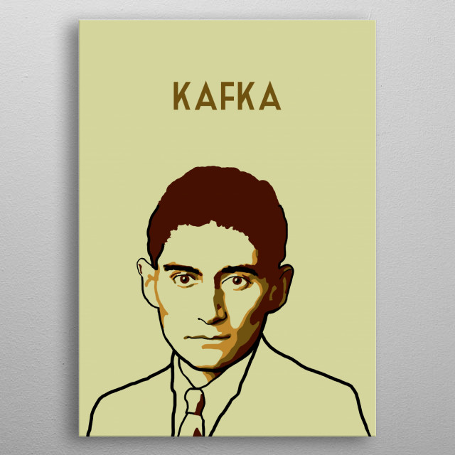 Franz Kafka metal poster