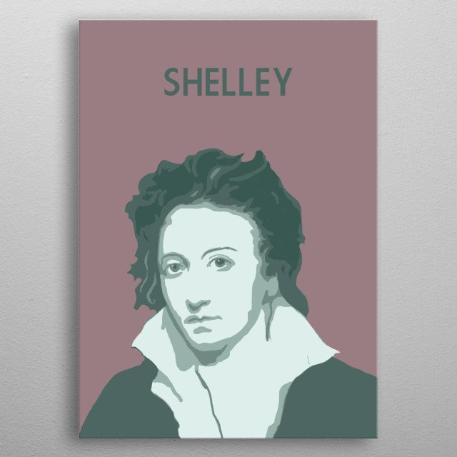 Percy Bysshe Shelley metal poster