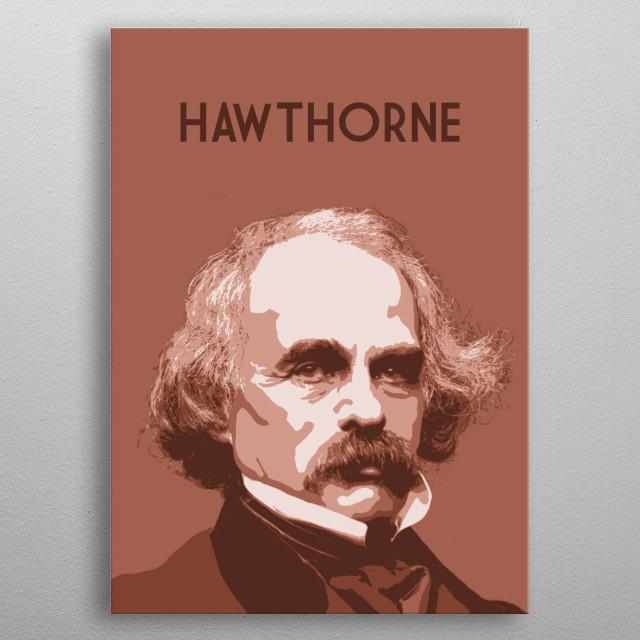 Nathaniel Hawthorne metal poster