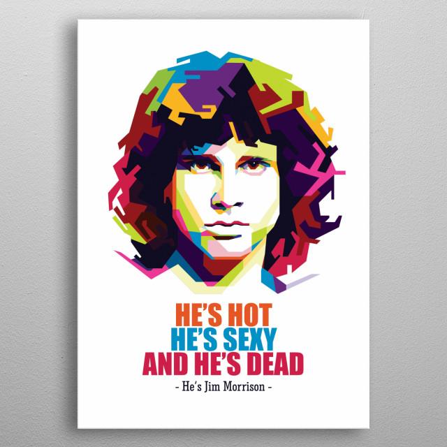 Pop Art of Jim Morrison metal poster
