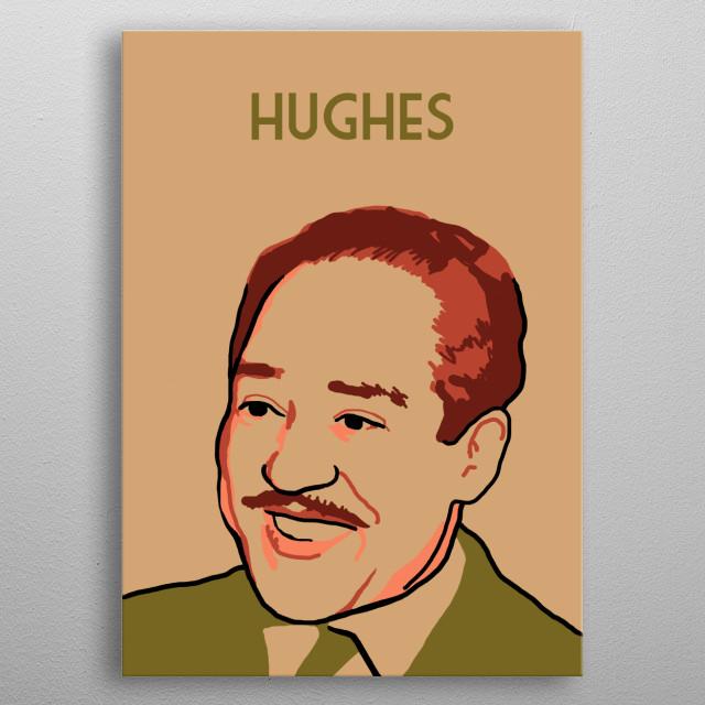 Langston Hughes metal poster