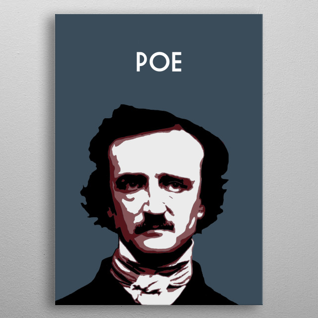 Edgar Allan Poe metal poster