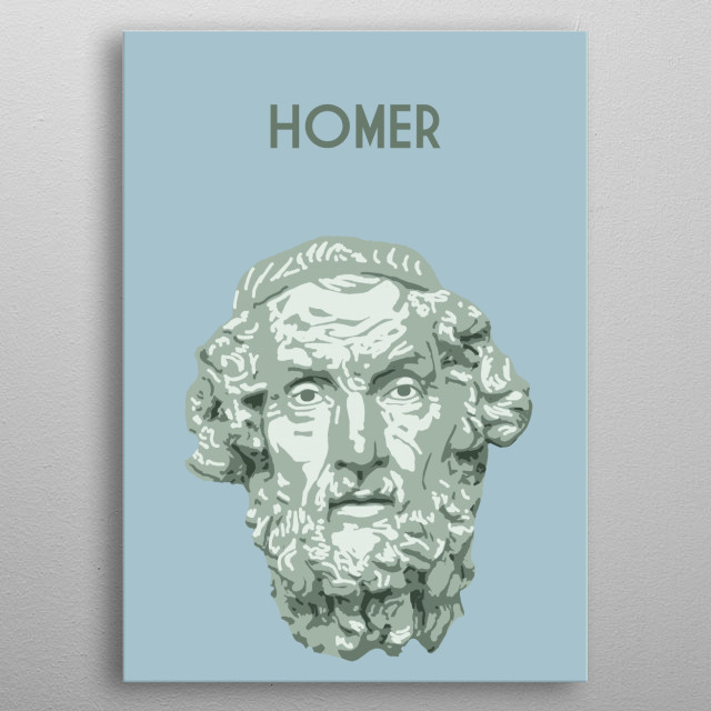 Homer metal poster
