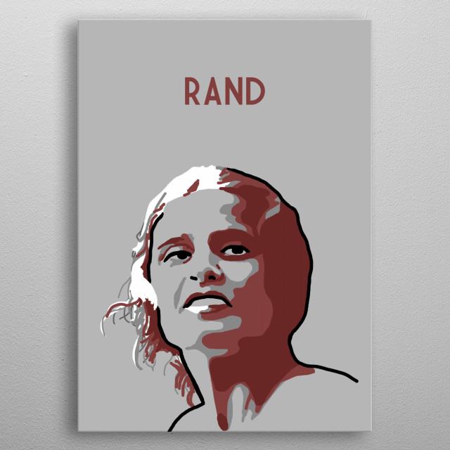 Ayn Rand metal poster