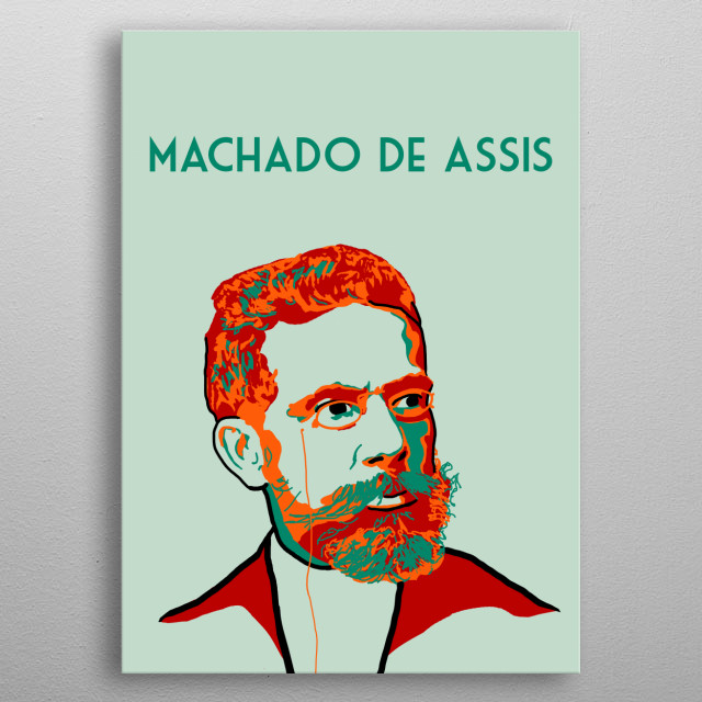 Machado de Assis metal poster