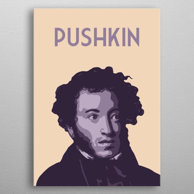 Alexander Pushkin metal poster