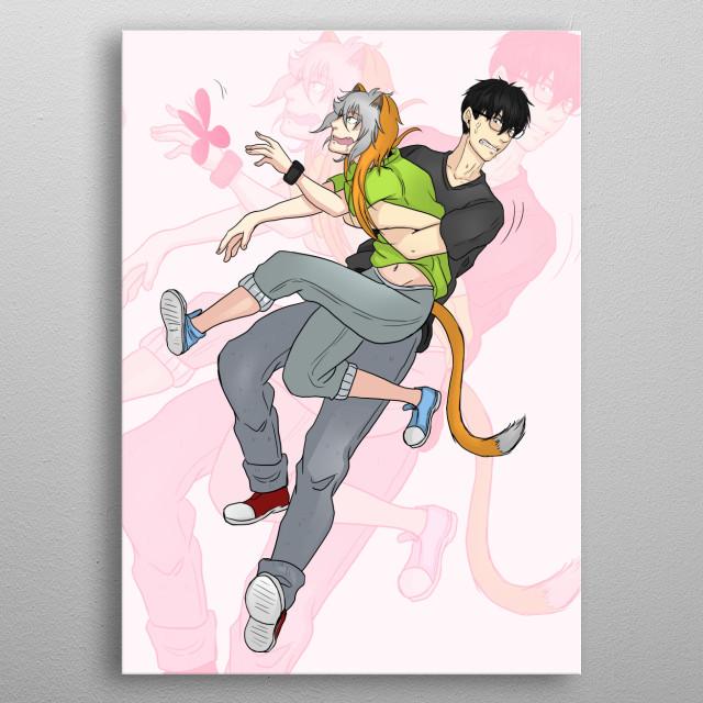 Artwork of my Manga Purrsonal Catsitter metal poster
