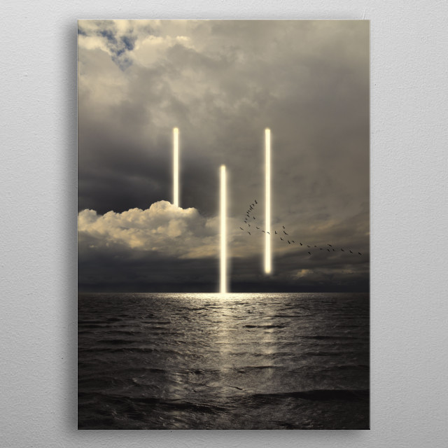 Inspired by the music of BRIAN ENO metal poster
