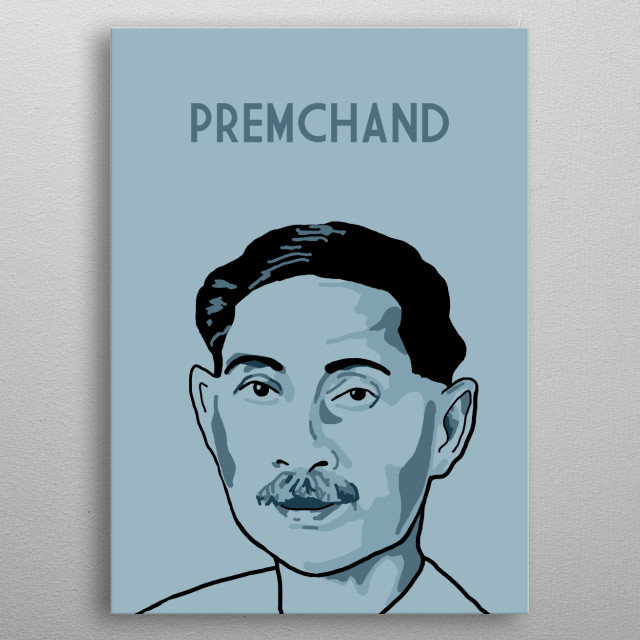 Munshi Premchand metal poster