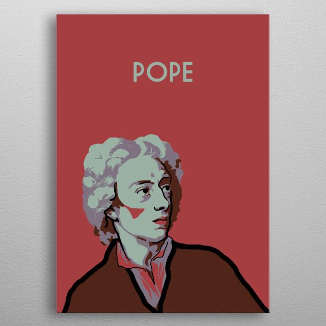 Alexander Pope metal poster