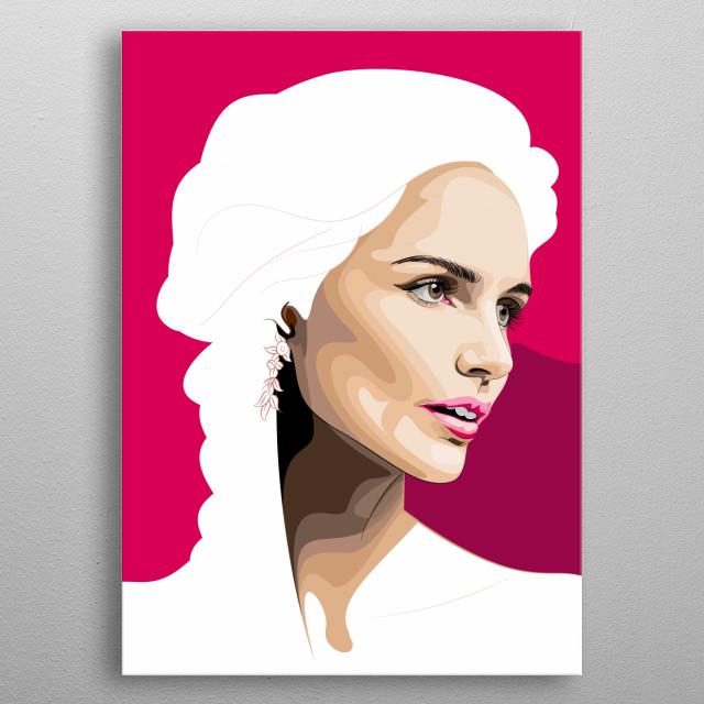 my simple vector art. kecantikan seorang model yang saya tampilkan secara sederhana dan abstrak tampil dalam sebuah kreasi unik dan sederhan metal poster