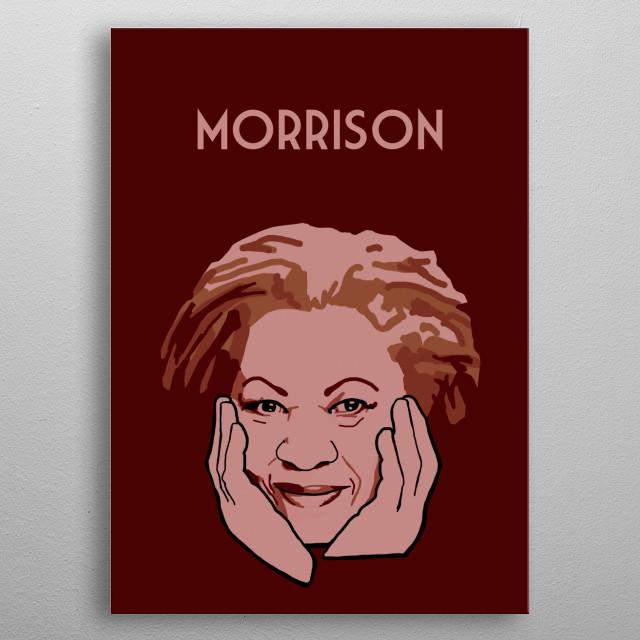 Toni Morrison metal poster