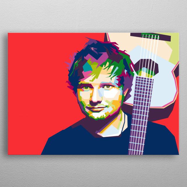 ed sheeran in wpap illustration metal poster