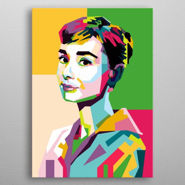 Wedha's Pop Art Portrait of Audrey Hepburn metal poster