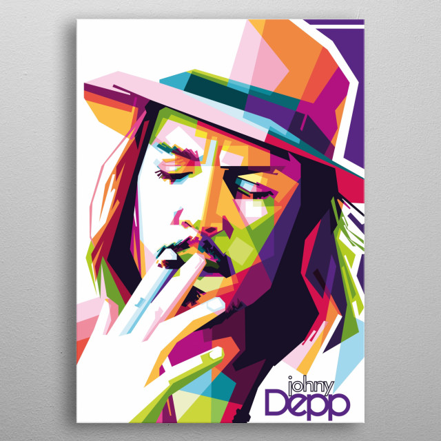 Johnny Depp n American actor, producer and musician metal poster