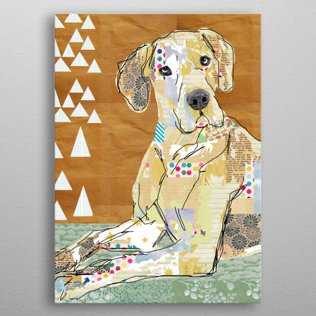 Great Dane Collage metal poster