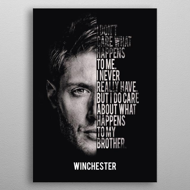 Supernatural  metal poster