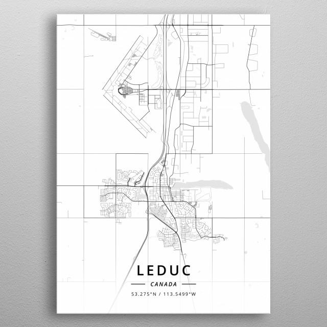 Leduc, Canada metal poster