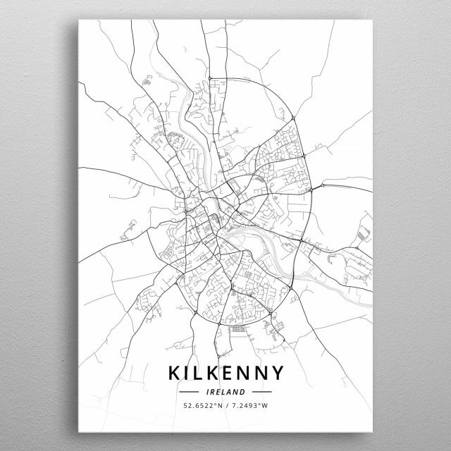 Kilkenny, Ireland metal poster