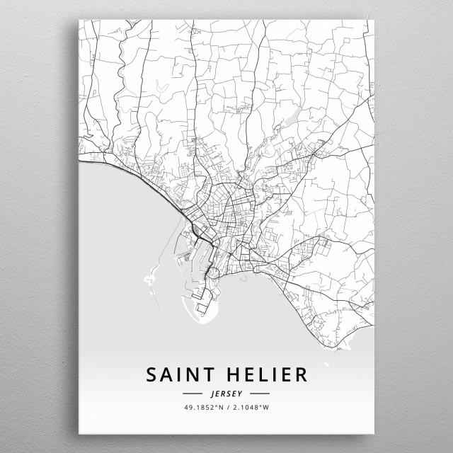 Saint Helier, Jersey metal poster