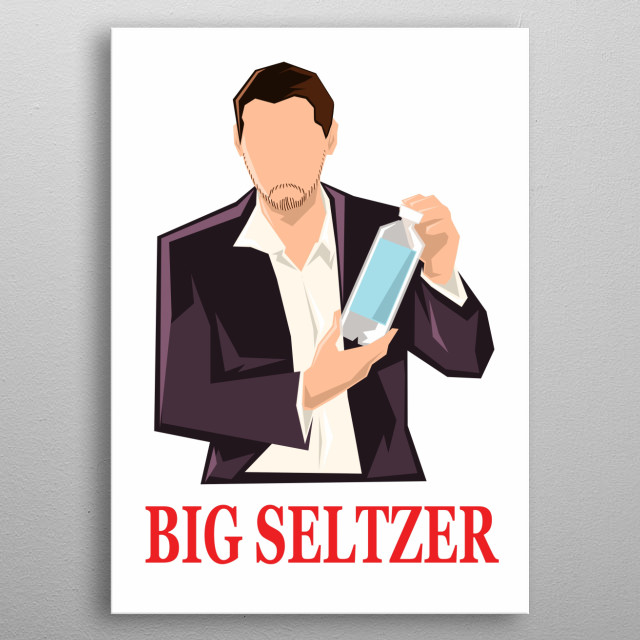 This is a minimalist piece of political commentator Kyle Kulinkski. His YT channel: Secular Talk. ALSO HE SOLD OUT TO BIG SELTZER. metal poster