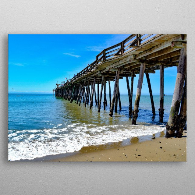 Stunning view of the pier in Capitola California metal poster
