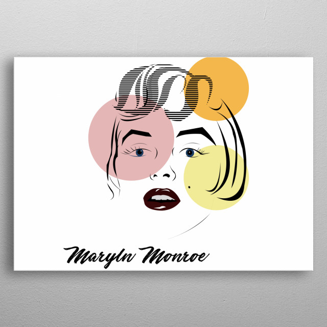 Simple vector art, based from inspirations on  women empowerment how a girl must be when no one  is there for us. Lips and eyes highlighted. metal poster