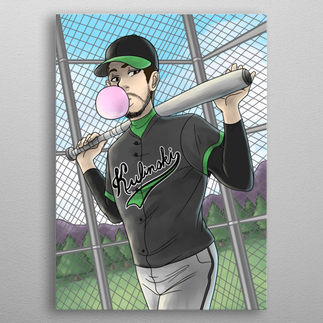 Artwork of political commentator Kyle Kulinkski. YouTuber AIU said Kyle looks like a lesbian softball coach in 2016, now it's an inside joke metal poster
