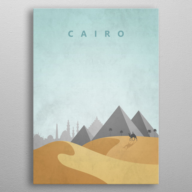 Cairo Travel Poster metal poster