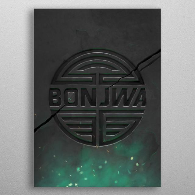 Das Bonjwa Logo auf eine etwas andere Art und Weise. metal poster