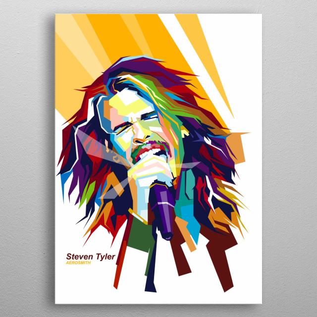 Poster Popart Steven Tyler metal poster