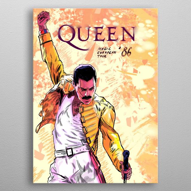 Queen, Magic European Tour 1986 metal poster