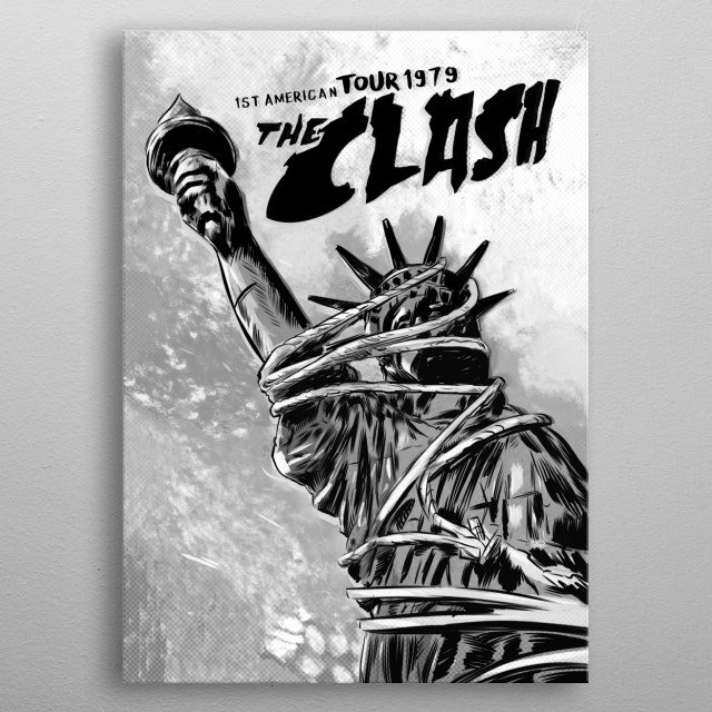 The Clash, 1st American Tour metal poster
