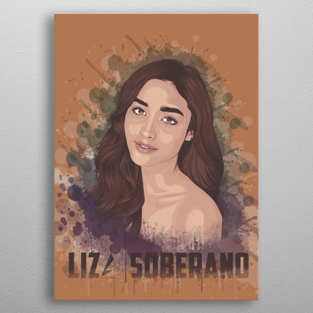 Liza Soberano Vexel Arts metal poster