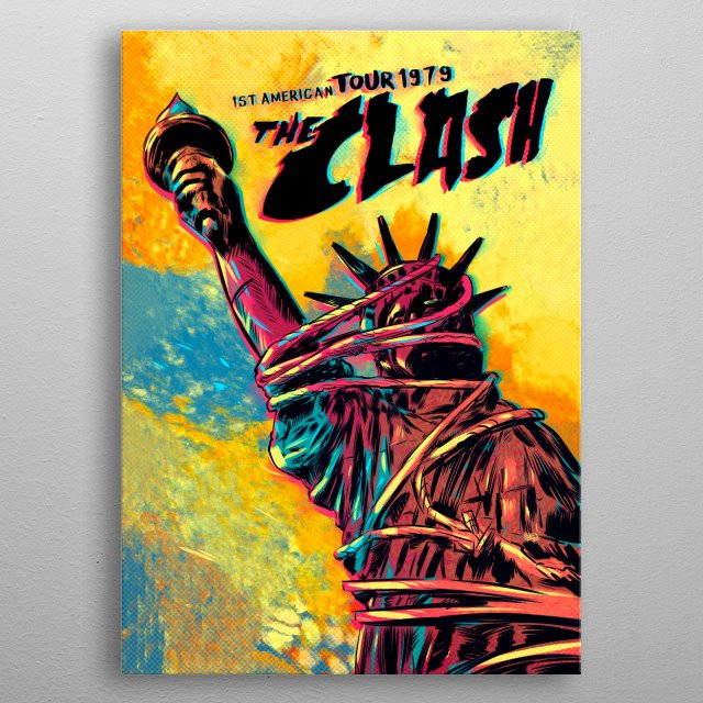 The Clash, 1st American Tour 1979 metal poster