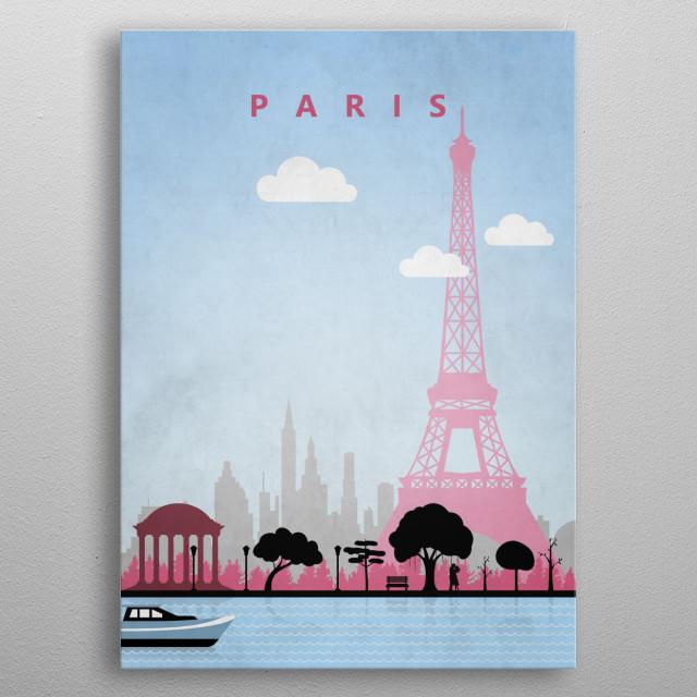 Paris Travel Poster metal poster