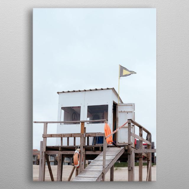 Lifieguard cabin. Original photograph by Felix Padrosa metal poster