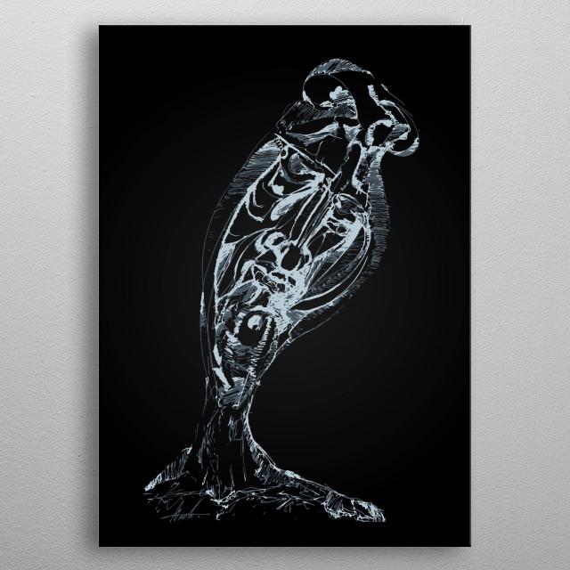 Portrait of an artist metal poster