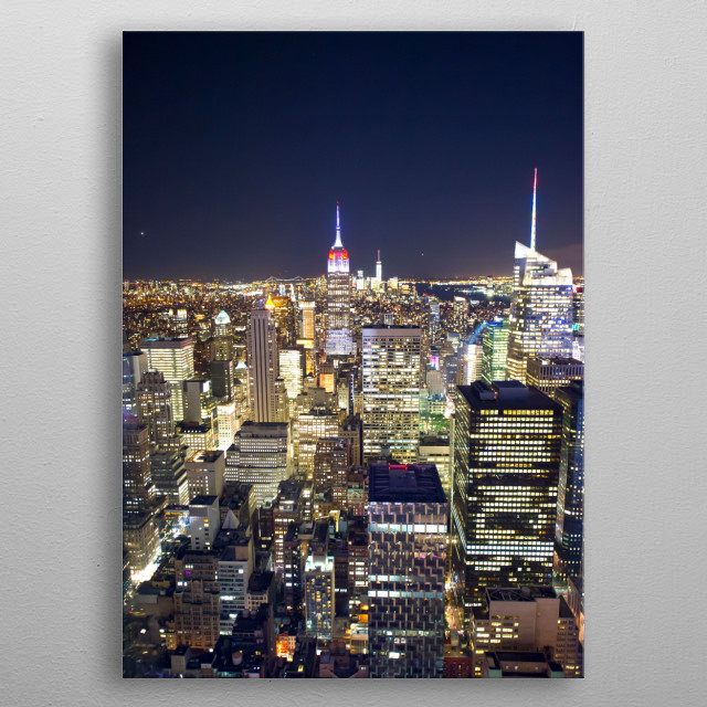Night view of top of the rock metal poster