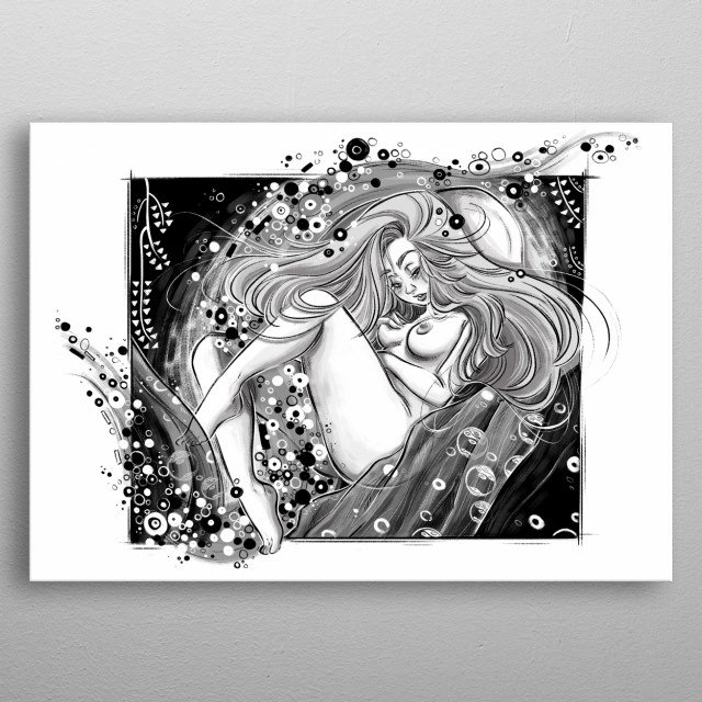 Danae, inspired by Klimt paintings.  metal poster