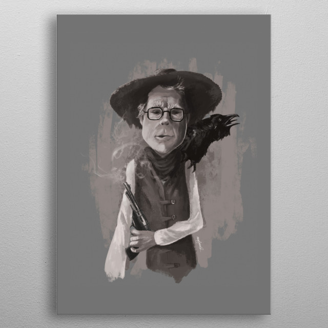 A caricature of Stephen King as Roland, his main character in the Dark Tower novels. metal poster