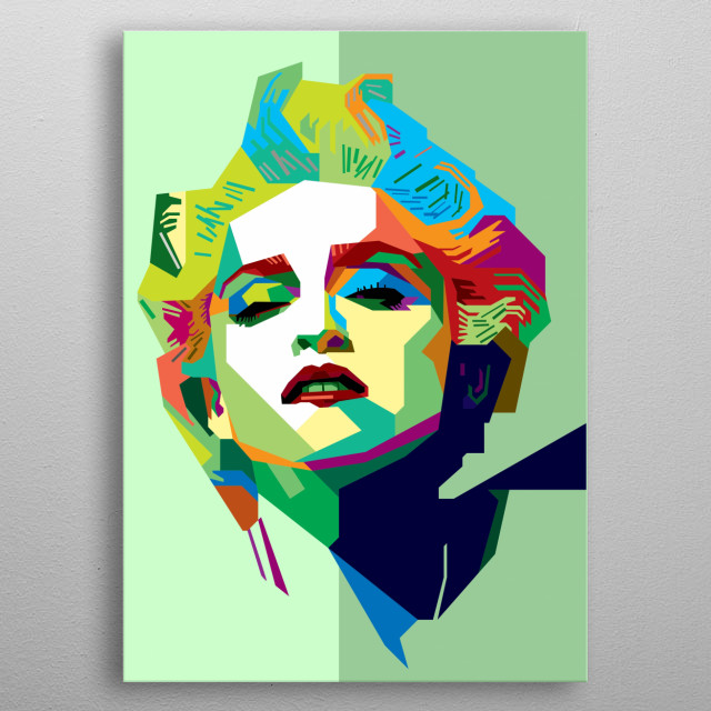 Madonna Design Illustration in Wpap Style. Background and Wallpaper with Colorful metal poster