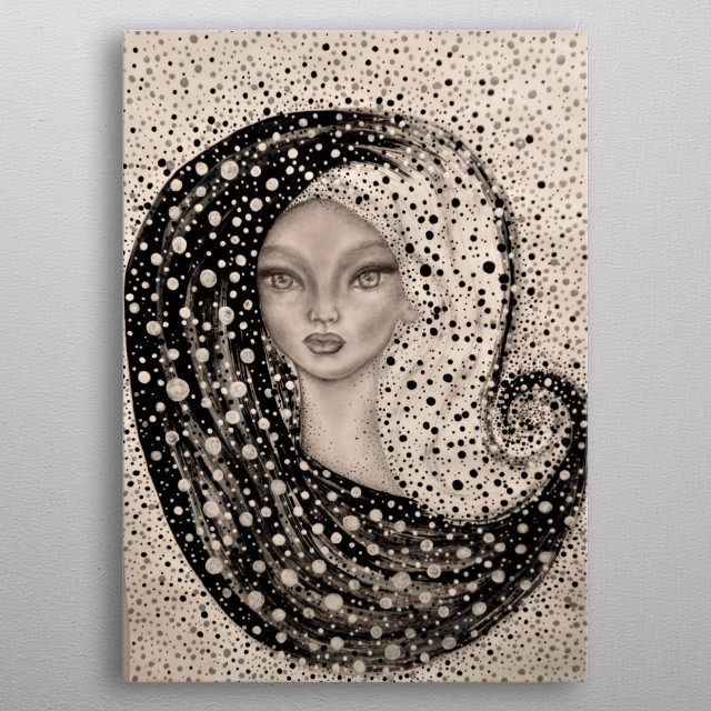 Pretty dot obsessed girl inspired by Yin and Yang metal poster